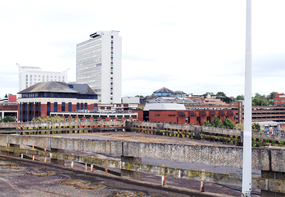 Car Park 5, Bracknell: a view north towards Bracknell Town Centre