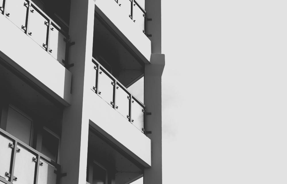 The balconies of Point Royal, Bracknell (Berkshire)